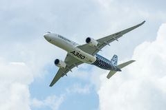 Demonstration flight Airbus A350 XWB. Stock Image