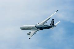 Demonstration flight Airbus A350 XWB. Royalty Free Stock Photos