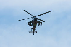 Demonstration flight of attack helicopter Eurocopter Tiger UHT Royalty Free Stock Photography