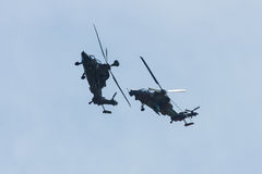 Demonstration flight of attack helicopter Eurocopter Tiger UHT Stock Photos