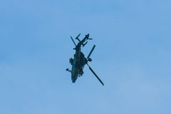 Demonstration flight of attack helicopter Eurocopter Tiger UHT. Royalty Free Stock Images