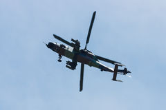 Demonstration flight of attack helicopter Eurocopter Tiger UHT. Stock Photo