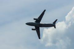 Demonstration flight of military transport aircraft Antonov An-178. Stock Photo