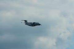 Demonstration flight of military transport aircraft Antonov An-178 Royalty Free Stock Image