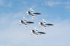 Demonstration Flights of Blue Impulse stock photography