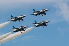 Demonstration Flights of Blue Impulse royalty free stock photography