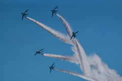 Demonstration Flights of Blue Impulse Royalty Free Stock Photo