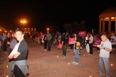 Demonstration gegen die homosexuellen Familien, die Manuf bewegen, gießen Tous Lizenzfreie Stockfotos