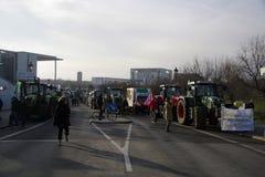 Demonstration gegen die landwirtschaftliche Lobby Lizenzfreies Stockbild