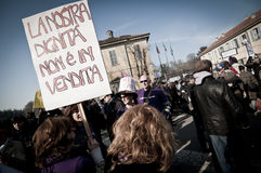 Demonstration held in Arcore February 06, 2011 Stock Photography