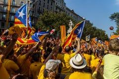 Demonstration i Catalonia Royaltyfri Fotografi