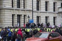 Demonstration i London Royaltyfri Fotografi