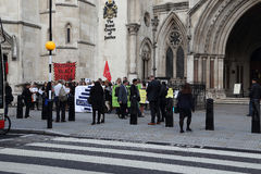 Demonstration i London royaltyfria bilder