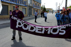 Demonstration i Marchena Seville 2 Royaltyfri Foto