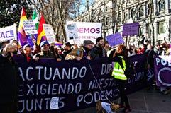 Demonstration i vägnar av PODEMOS 11 Royaltyfria Bilder