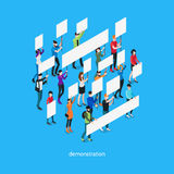 Demonstration Isometric Template Royalty Free Stock Photos