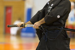 Demonstration  of Japanese traditional martial arts Stock Image