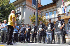 Demonstration in Kroatien Lizenzfreie Stockbilder