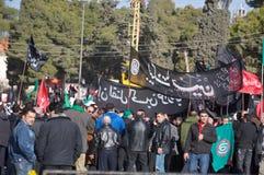 demonstration lebanon arkivfoto