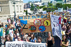 Demonstration in Madrid Stock Photography