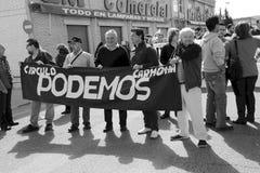 Demonstration in Marchena Seville 1 Stock Image