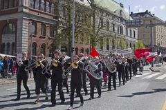 Demonstration. On May 1 in Bergen in Norway Royalty Free Stock Photos