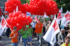 Demonstration on May Day Stock Photo