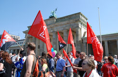 Demonstration on May Day in Berlin Stock Images