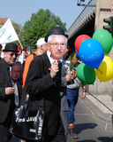 Demonstration on May Day in Berlin Stock Photo