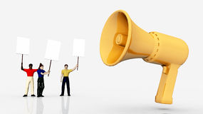 Demonstration - Megaphone Royalty Free Stock Images