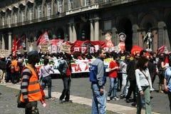 Demonstration in Neapel Lizenzfreie Stockbilder