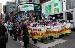 Demonstration in new york on May 2010 Stock Photos