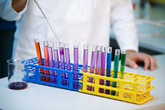 Demonstration od full pH scale Stock Image