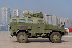 Free Demonstration Of Armored Car Capability Of The R Oyal Thai Armed Forces At Defense And Security 2019 Stock Images - 188098564