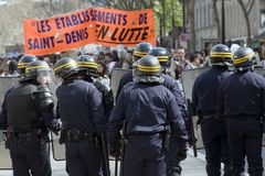 Demonstration in Paris Royalty Free Stock Images