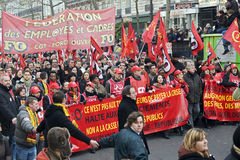 Demonstration in Paris, France - 29.01.2009 Stock Image