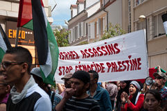Demonstration for peace between Israel and Palestine, against the Israeli bombing in Gaza Stock Image