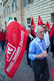 Demonstration pensioners in the center of Gubbio Royalty Free Stock Photography