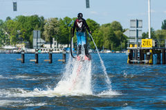Demonstration performance at Flyboard Stock Photos