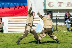 Demonstration performances of special troops Royalty Free Stock Photography
