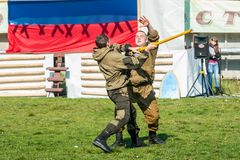 Demonstration performances of special troops Stock Images