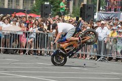 Demonstration performances of Stuntriding Royalty Free Stock Photo