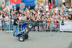 Demonstration performances of Stuntridings festival Stock Photos