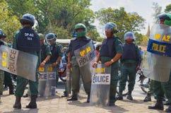 Demonstration in Phnom Phen stockfotos