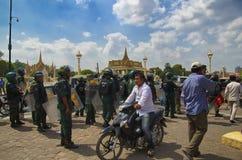 Demonstration in Phnom Phen lizenzfreie stockfotografie