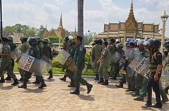 Demonstration in Phnom Phen Royalty Free Stock Photography