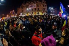 Demonstration on Piata Universitatii Royalty Free Stock Photo