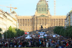 Demonstration in Prague Stock Photo