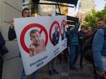 Demonstration in Prague Royalty Free Stock Photo