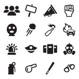 Demonstration Or Protest Icons Stock Image